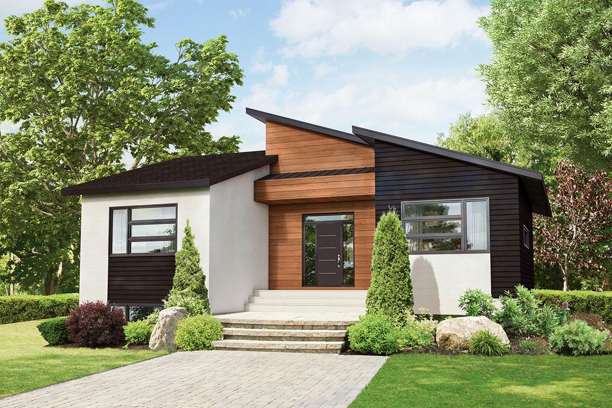 2-Bedroom Modern Ranch House Plan