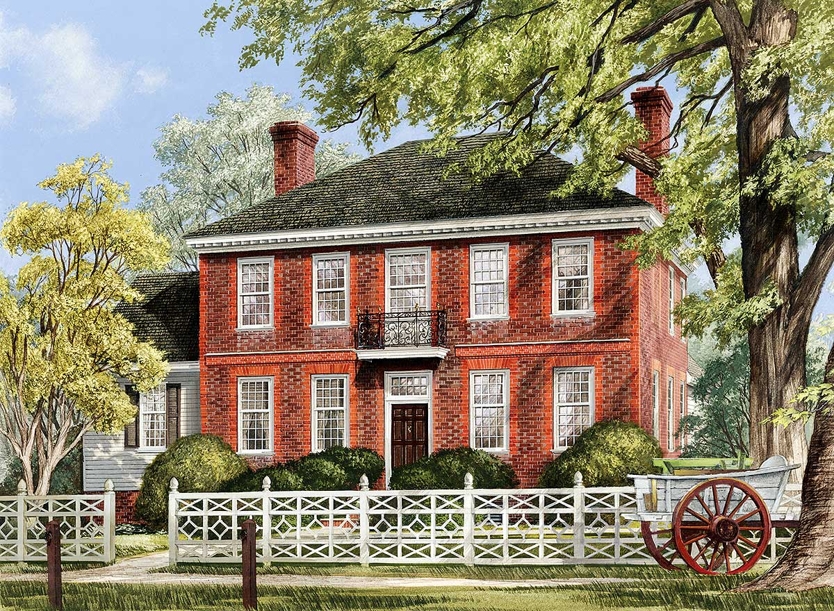 Georgian Colonial House Plans