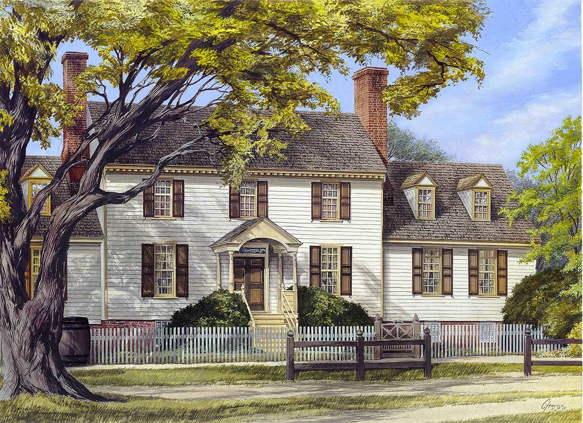 Colonial Plantation House Plan