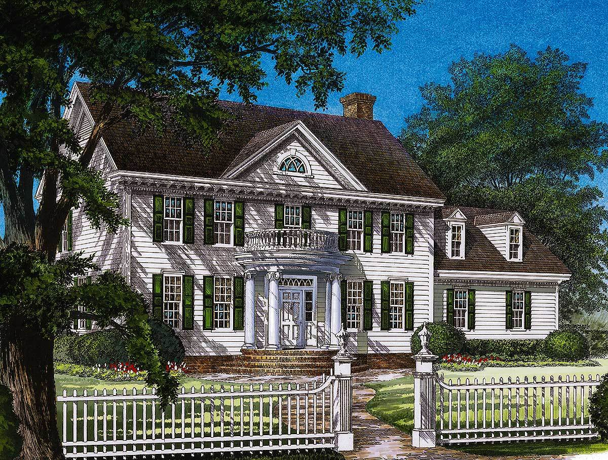 Traditional Colonial House Plans