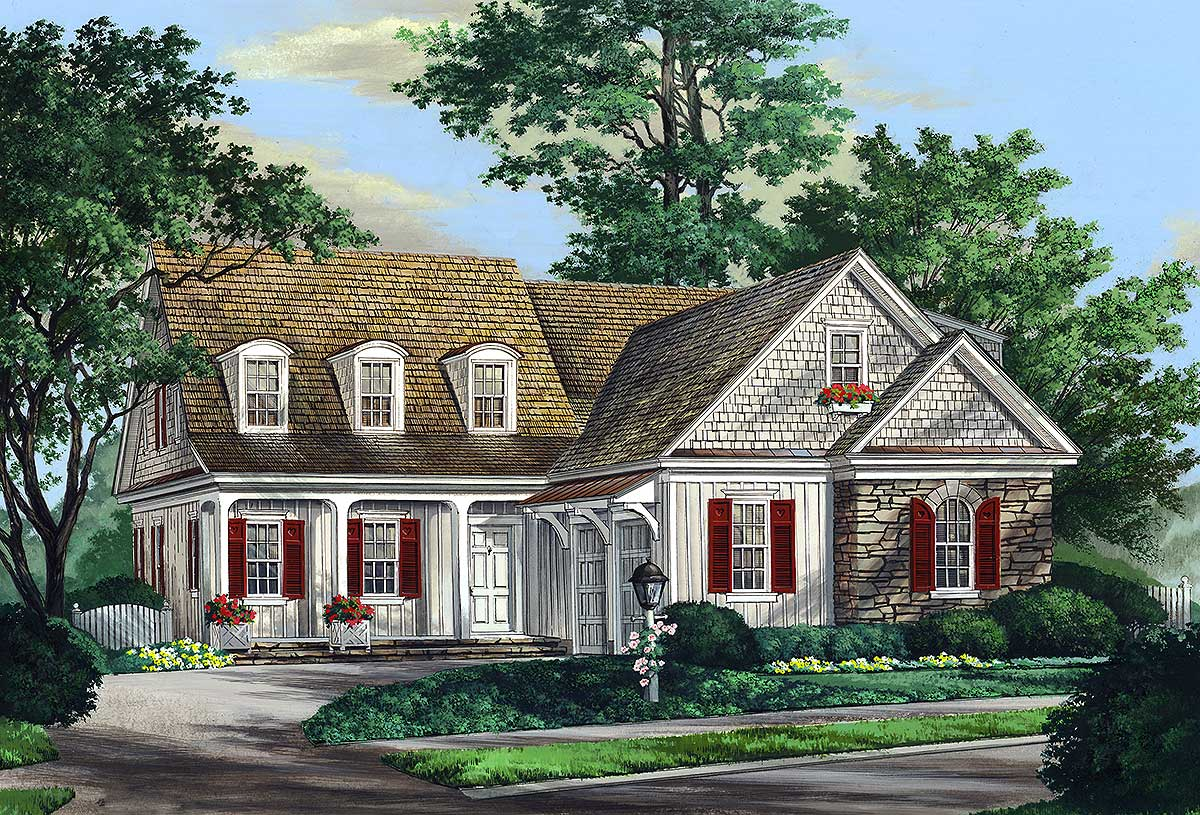 Courtyard Home Plans with Garage