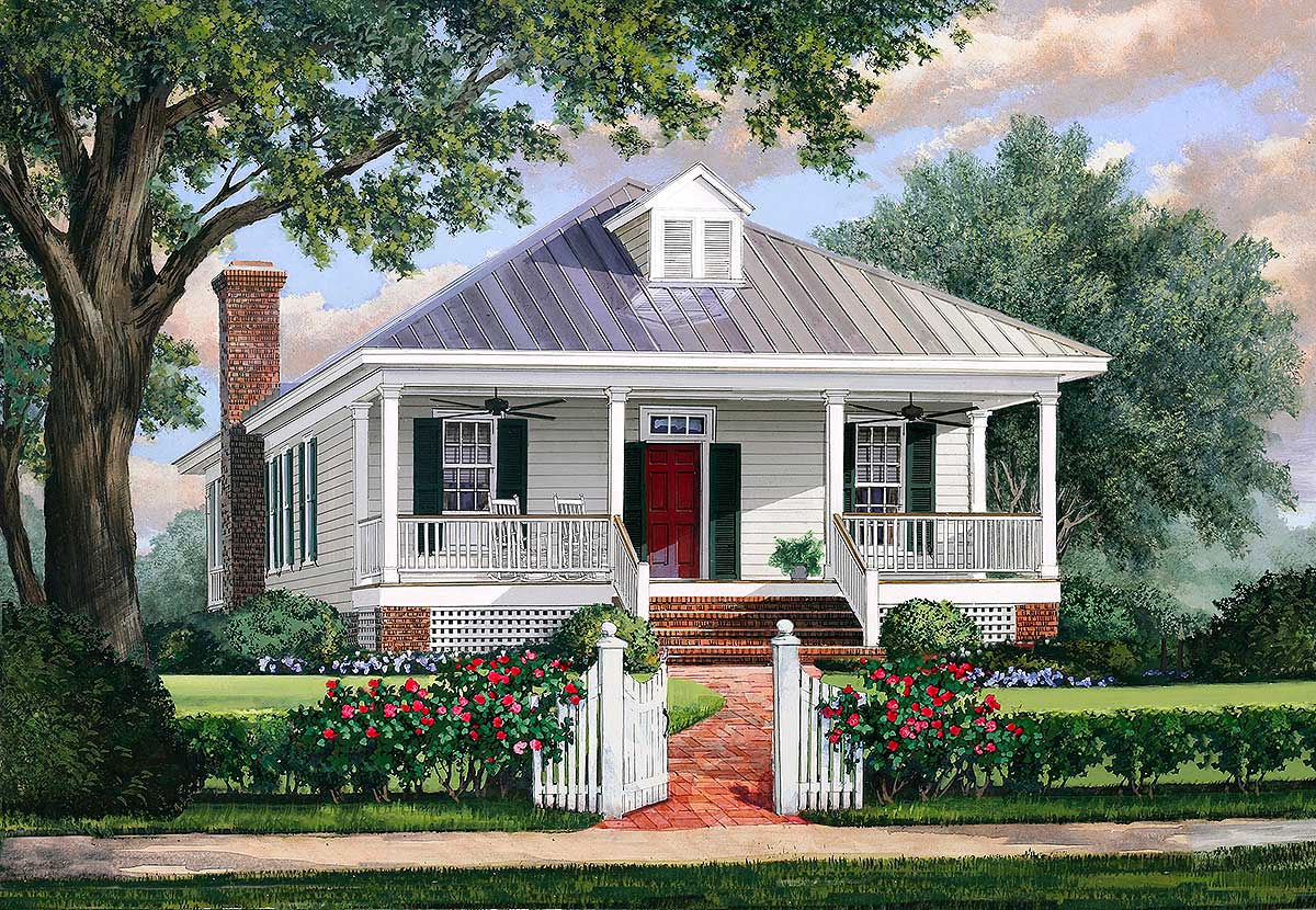 Cottage House Plans with Metal Roof