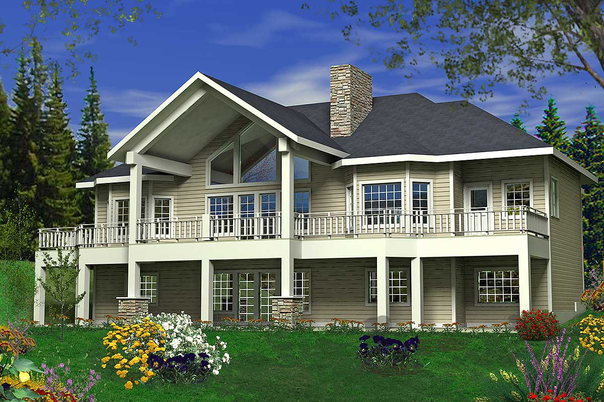 Great Rear-facing Views - 35394gh Architectural Design