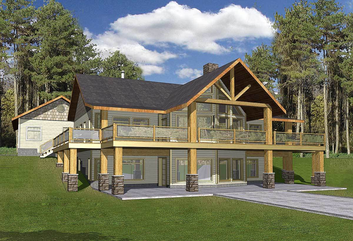 Mountain Home With Wrap- Deck - 35427gh