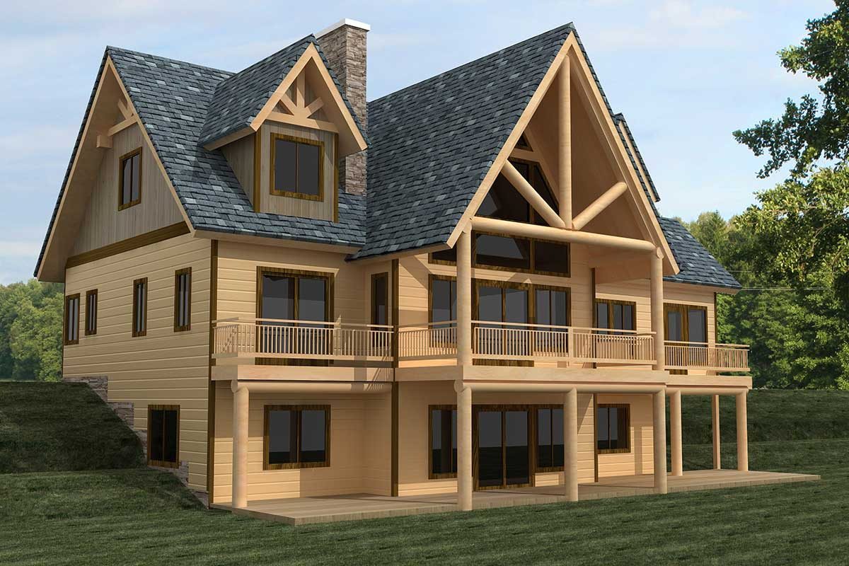 Majestic Mountain Home Plan - 35439gh Architectural