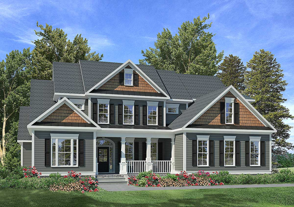 Craftsman Style House Plans with Side Garage