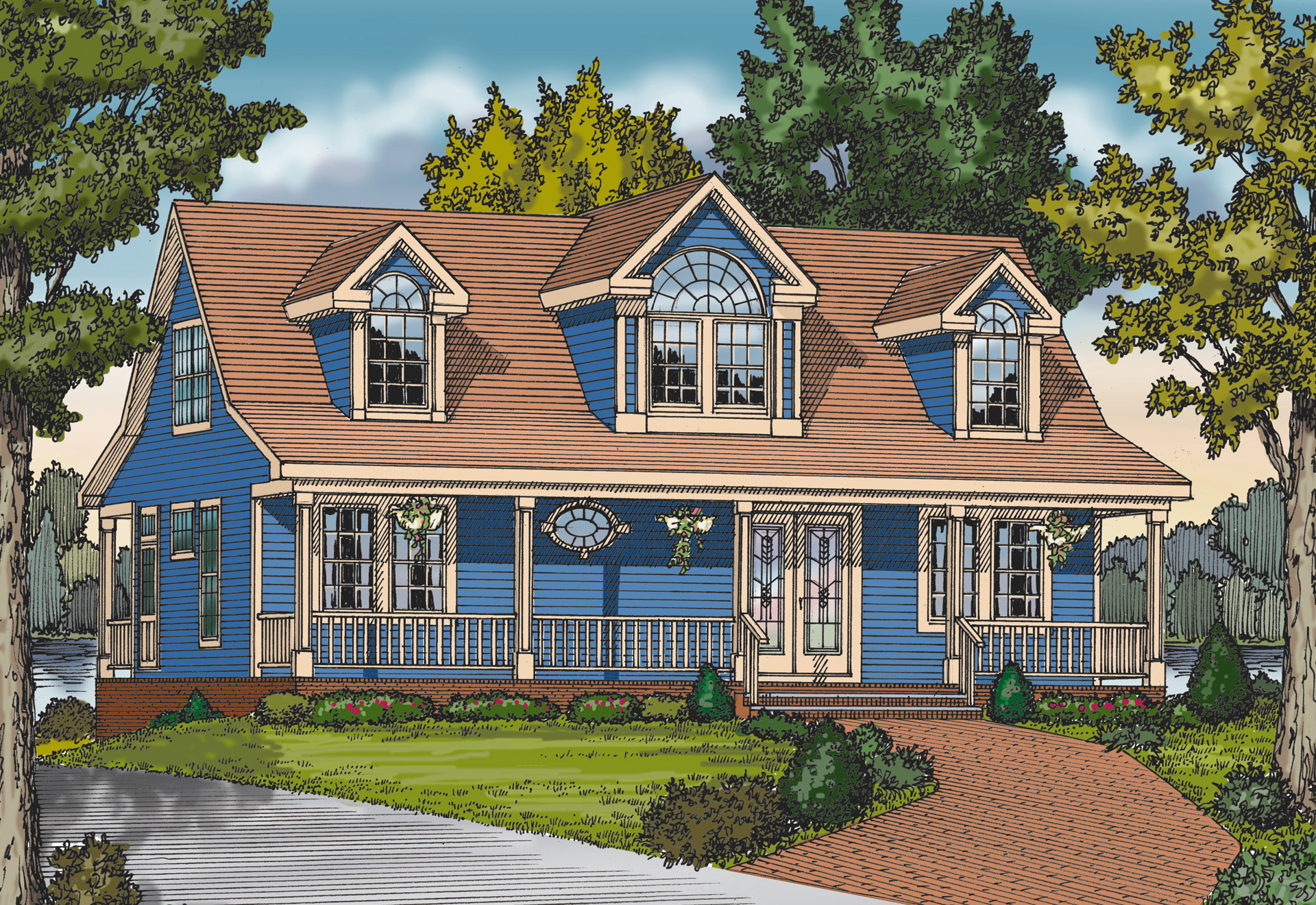 Acadian Cottage House Plans
