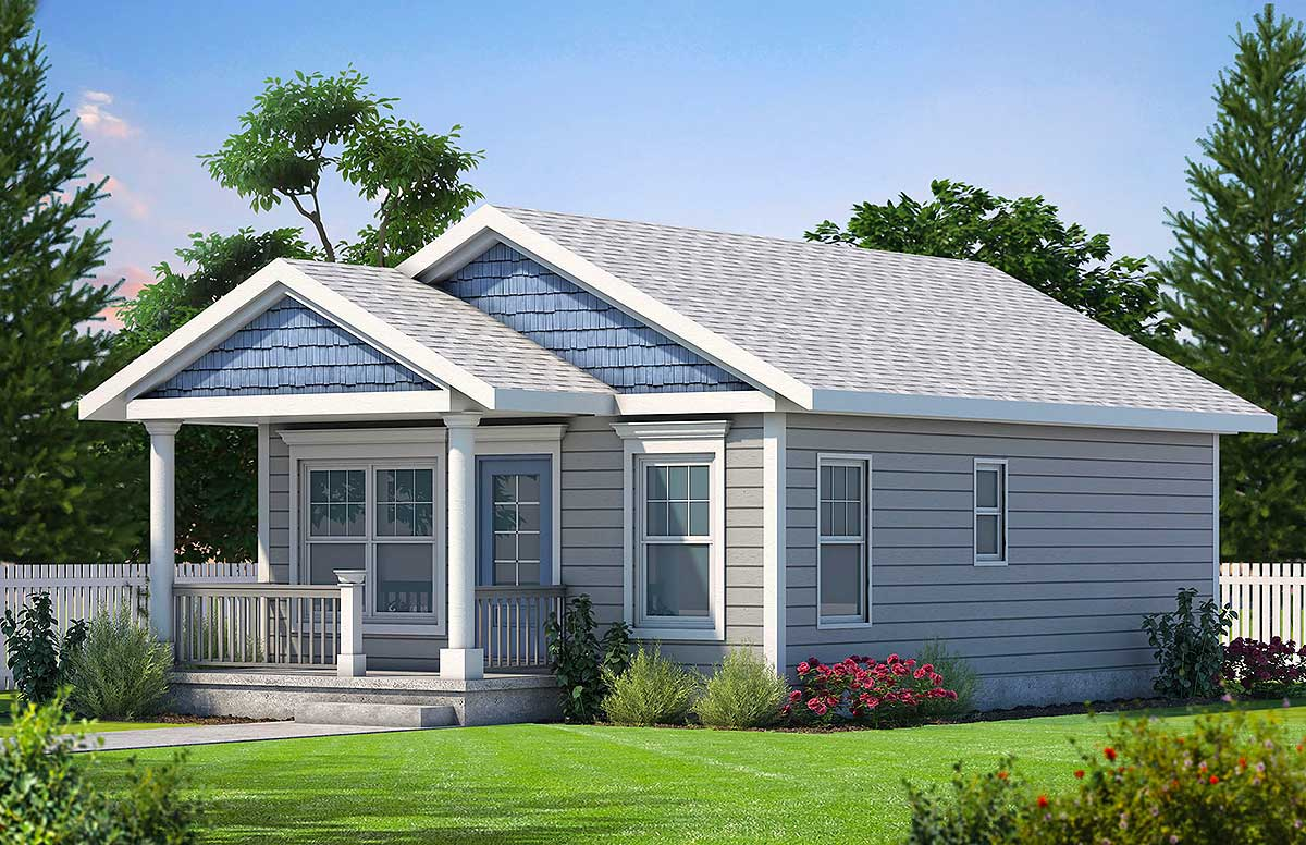 Cozy 2 Bed Tiny House Plan - 42332DB