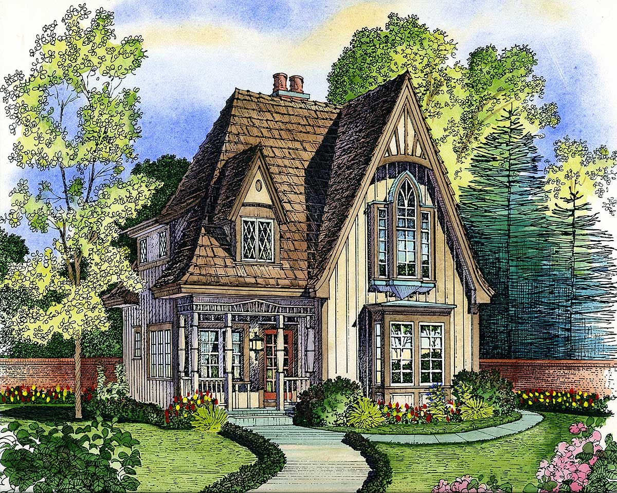 Adorable Cottage - 43000pf Architectural Design House