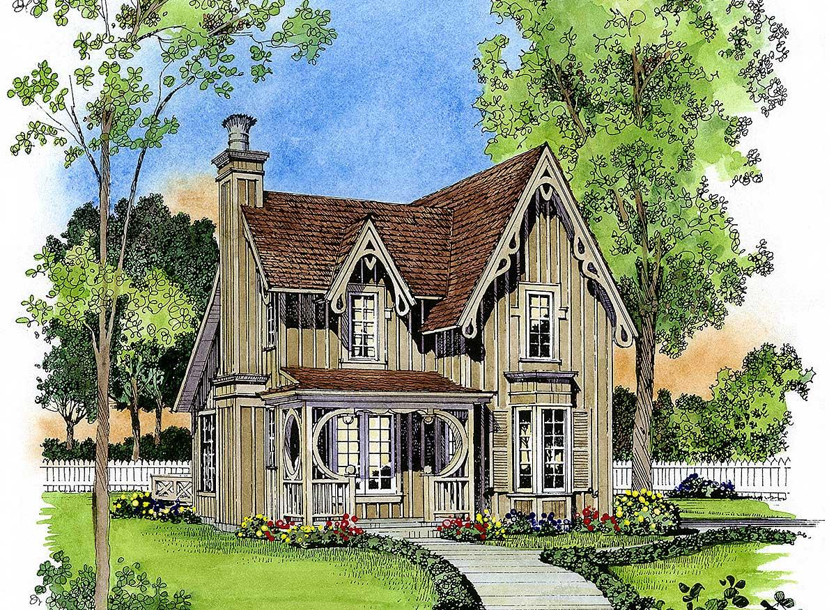 Gothic Revival Gem 43044pf Architectural Designs