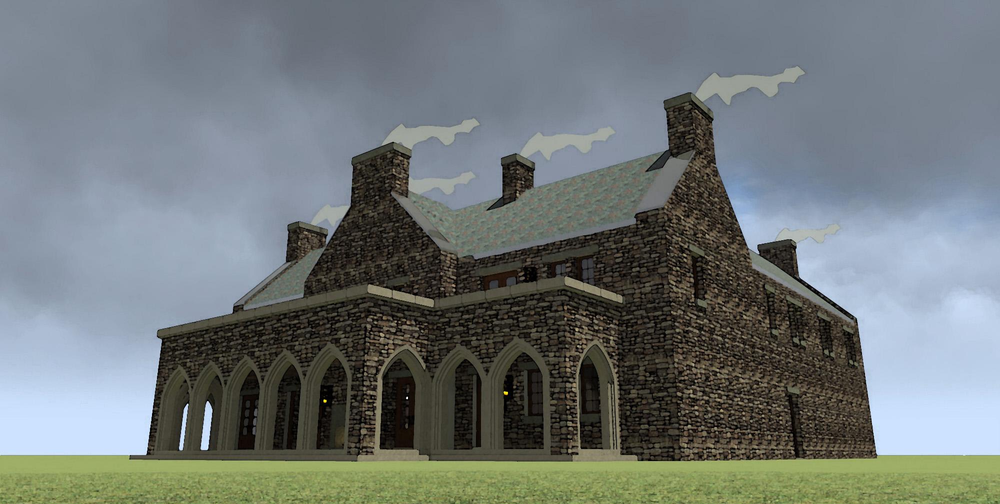 Darien Castle House Plans