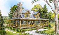 Wrap-Around Country Porch - 46002HC | Architectural ...