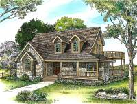 Country Stone Cottage Home Plan - 46036HC | 1st Floor ...