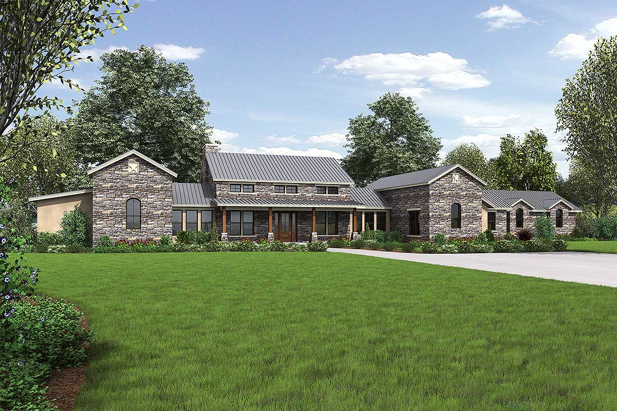 Hill Country Home With Massive Porch - 46041hc