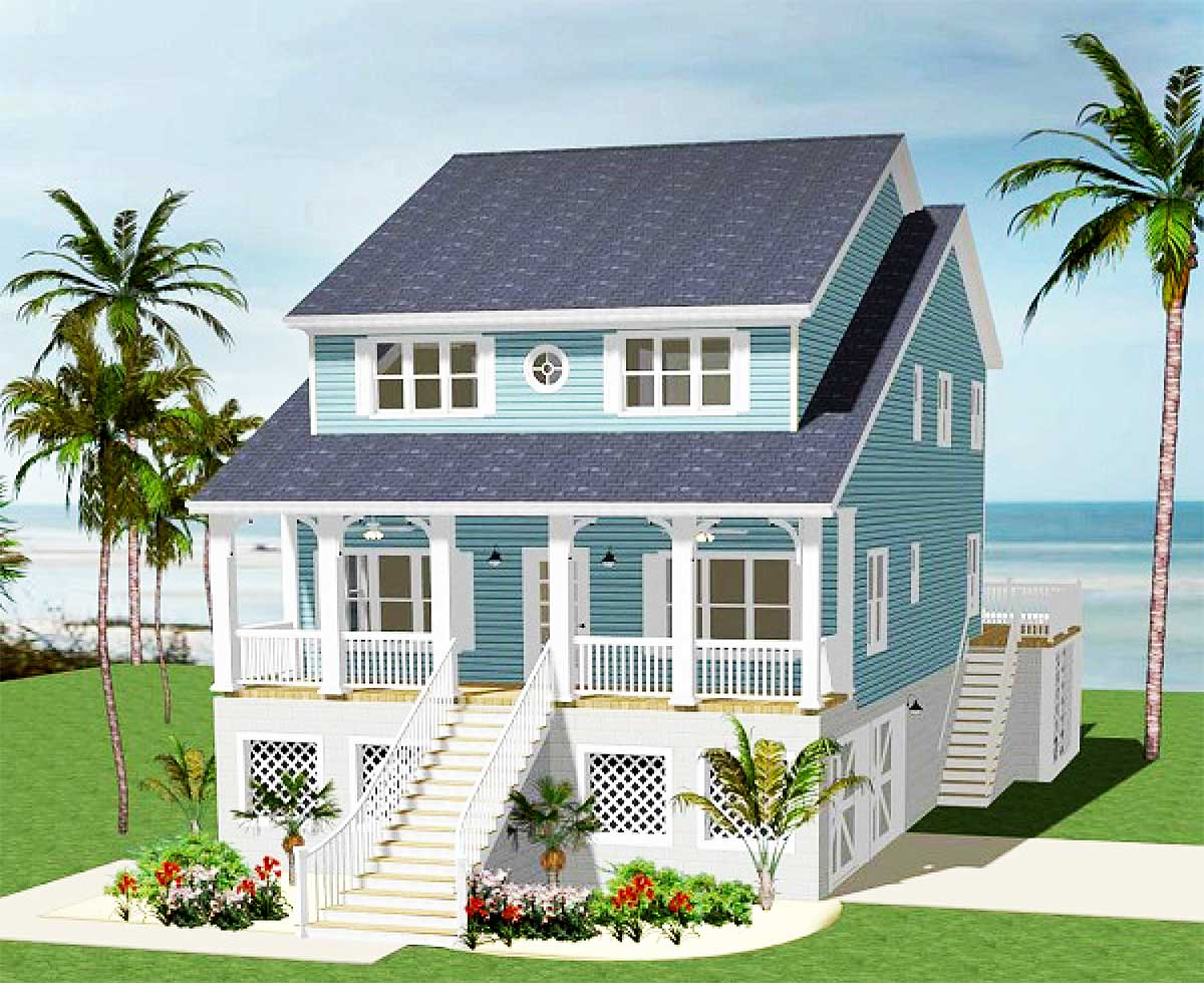 Five Bedroom Beach Cottage 46232la Architectural