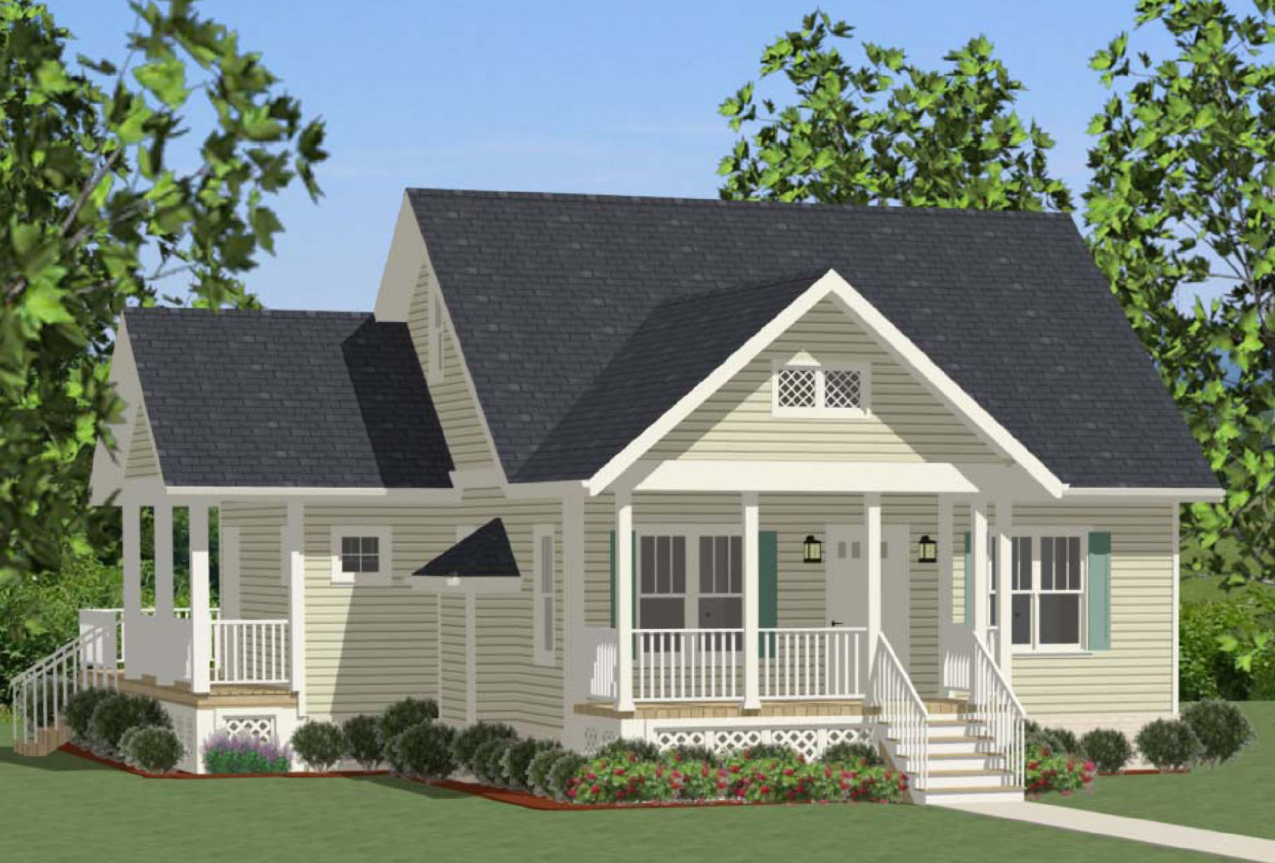 Compact Cottage With Country Kitchen 46267la