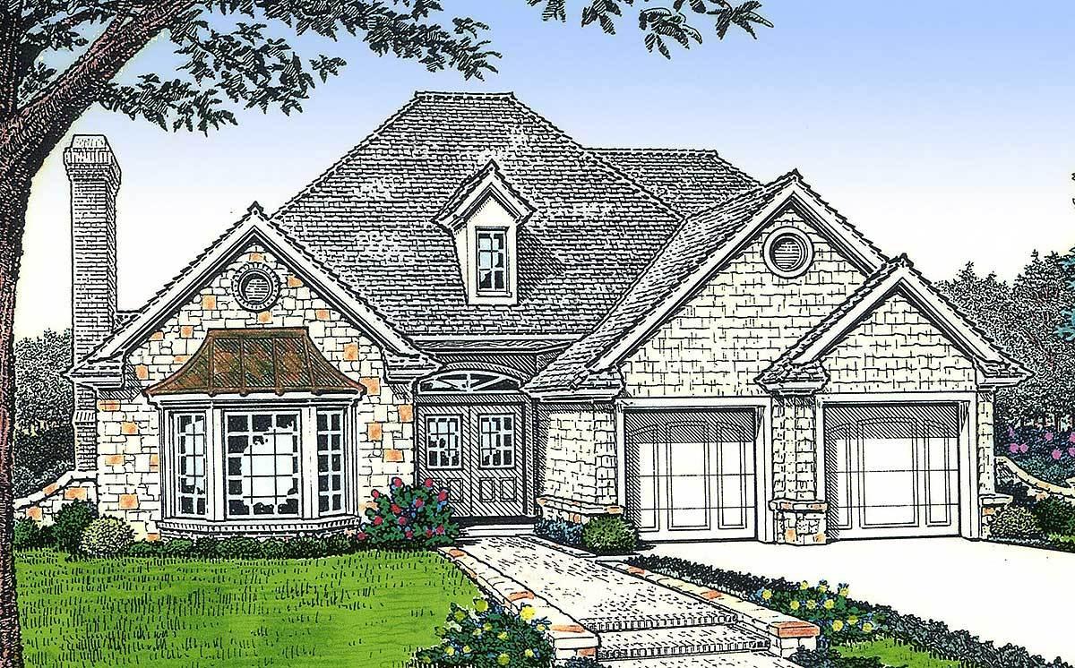Petite European Cottage 48169fm Architectural Designs