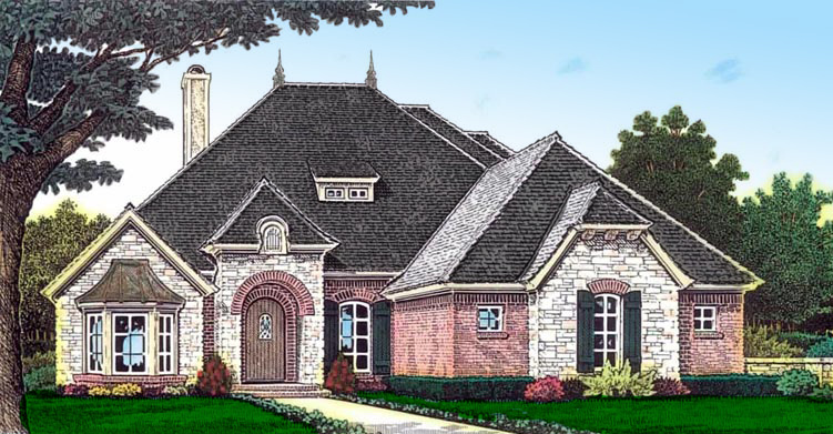 Elegant French Country Styling 48482FM Architectural