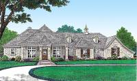 Single Level French Country House Plan - 48501FM ...