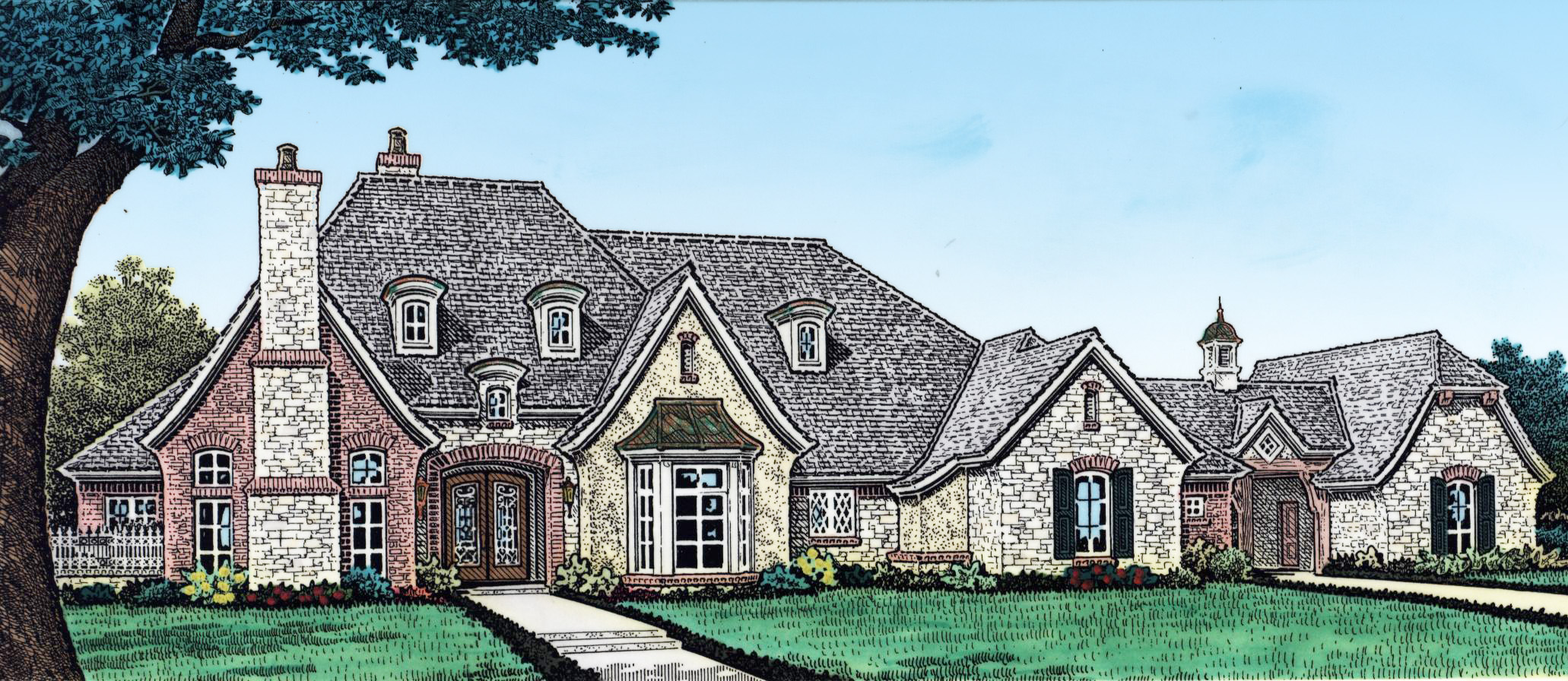 Elegant 4 Bed French Country House Plan