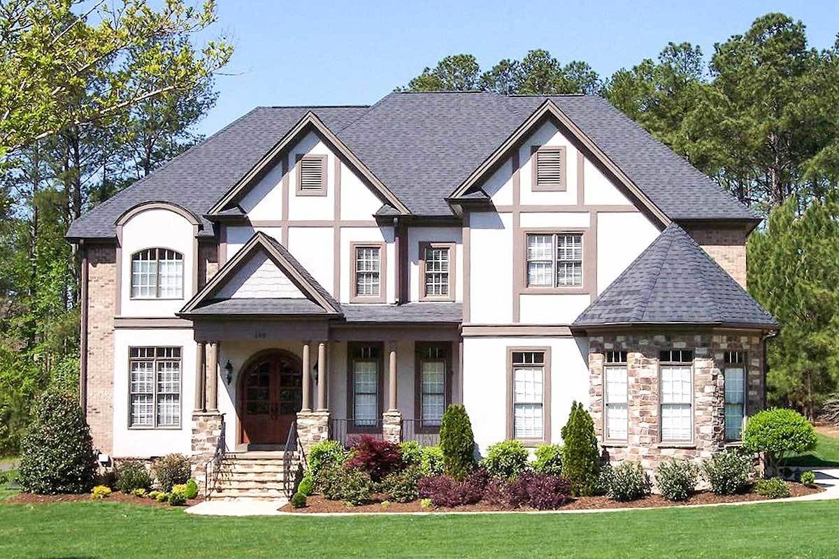 Five Bedroom Tudor House Plan - 50602tr Architectural
