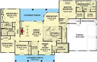 Four Bedroom Split-Bedroom House Plan - 51063MM ...