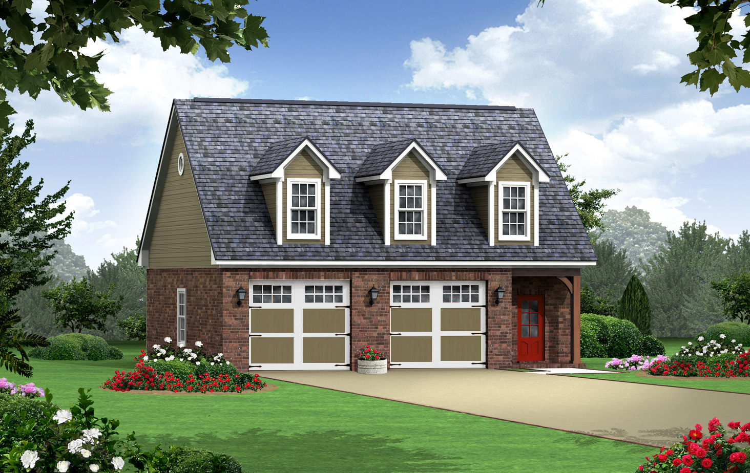 2 Car Garage with Apartment above Plans