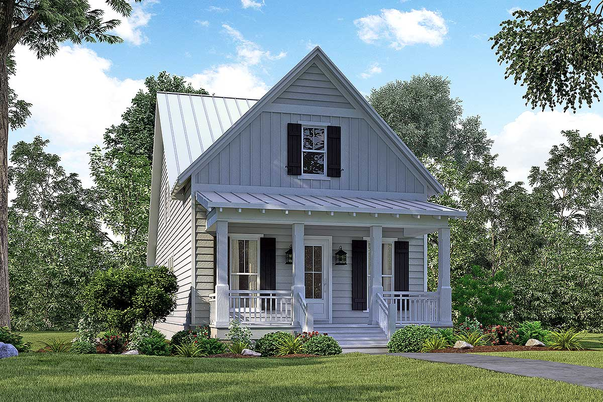 Narrow Lot House Plans with Porches