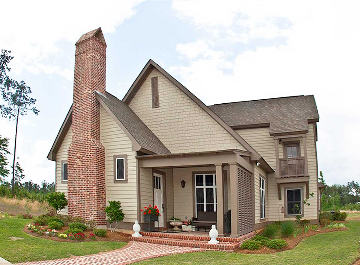 4 Bed House Plan With Vaulted Living Room - 51721hz