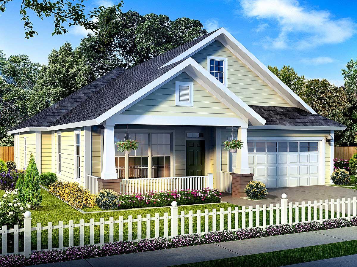 Narrow Lot Ranch House Plans