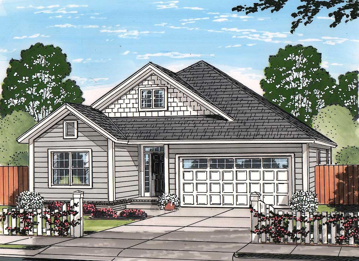Craftsman Cottage - 52246wm Architectural Design