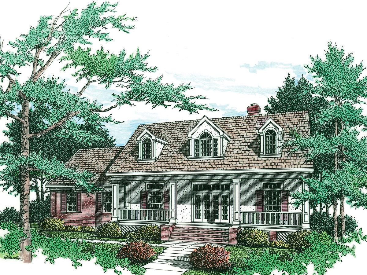 Charming Country-style Design - 5542br Architectural