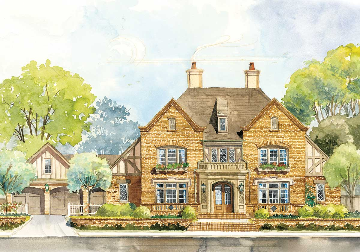 Old English Country House Plans