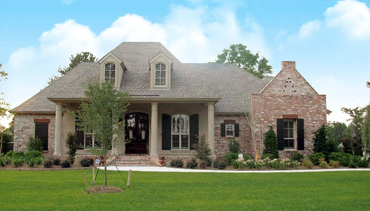 Roomy French Country Home Plan - 56367SM