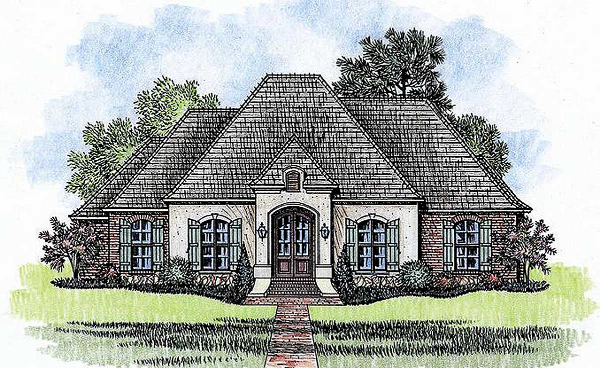 4 Bed French Country With Open Floor Plan 56380sm