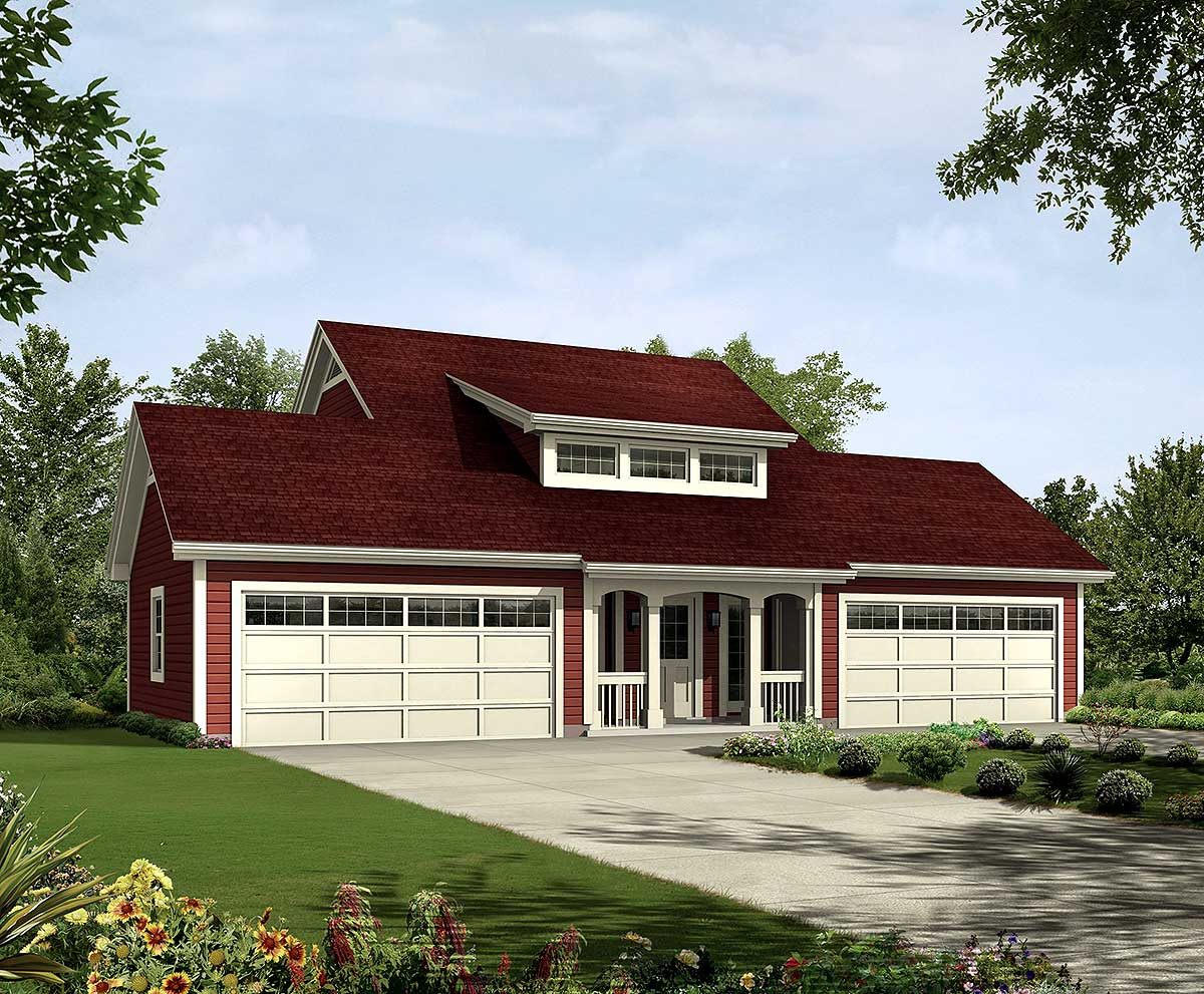 4-car Apartment Garage With Style - 57162ha
