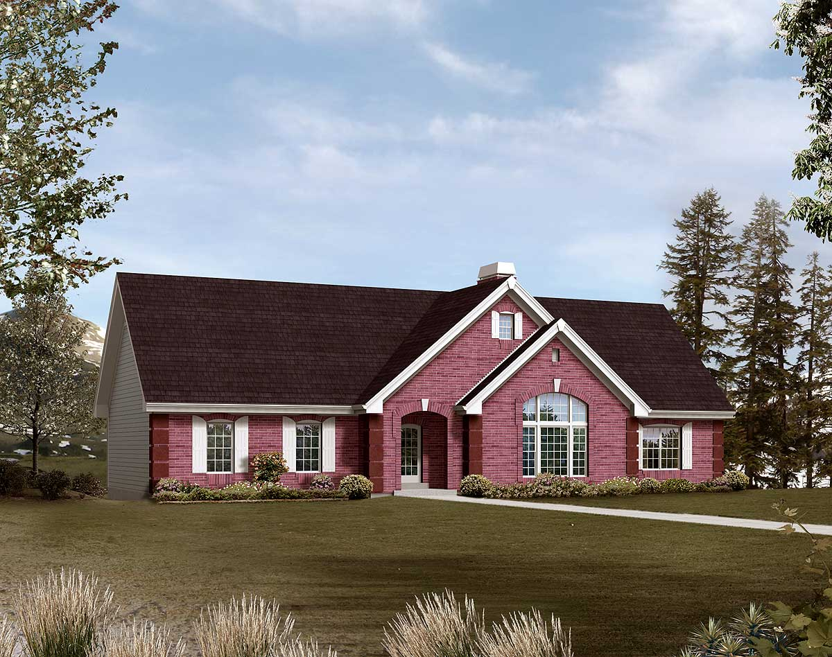 Ranch House Plans with Drive Under Garage