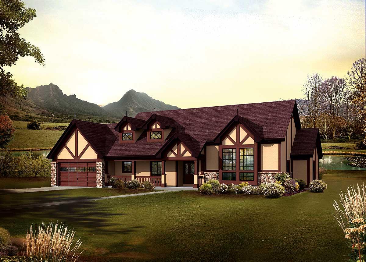 Tudor Ranch Home Plans