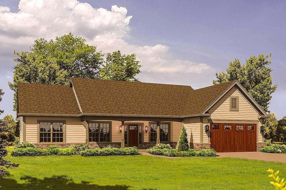 Rustic Ranch Home Plan - 57303ha Architectural Design