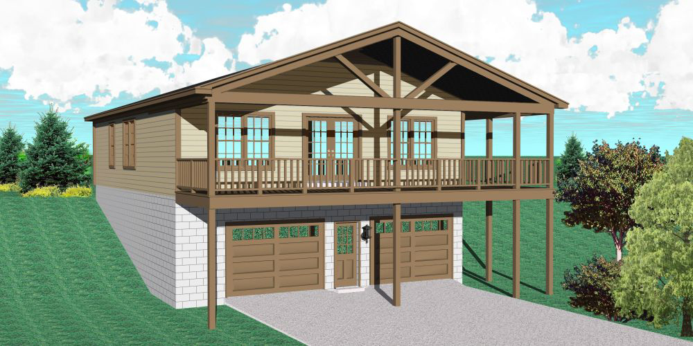 Carriage House for a Sloping Lot  58570SV  Architectural Designs  House Plans