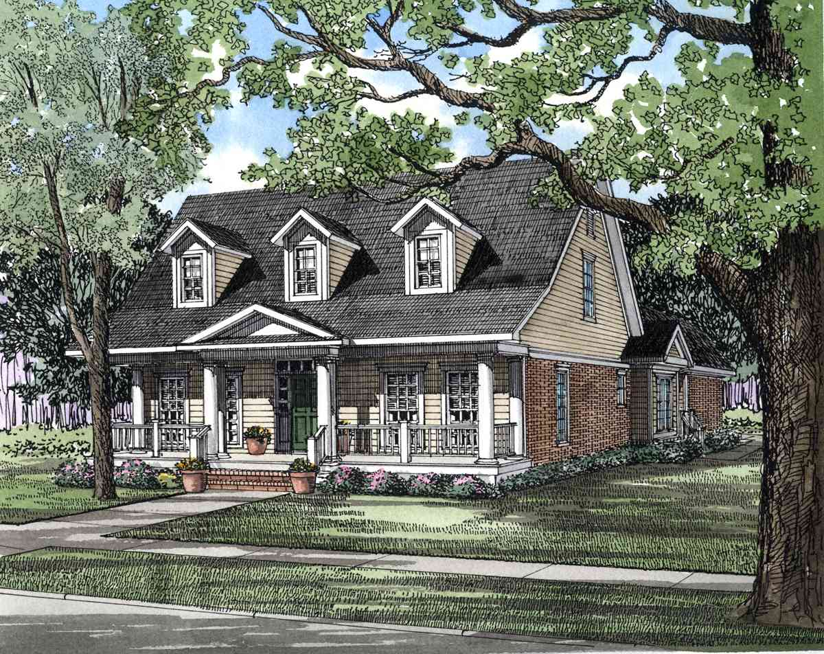 Country Style House Plans with Porches