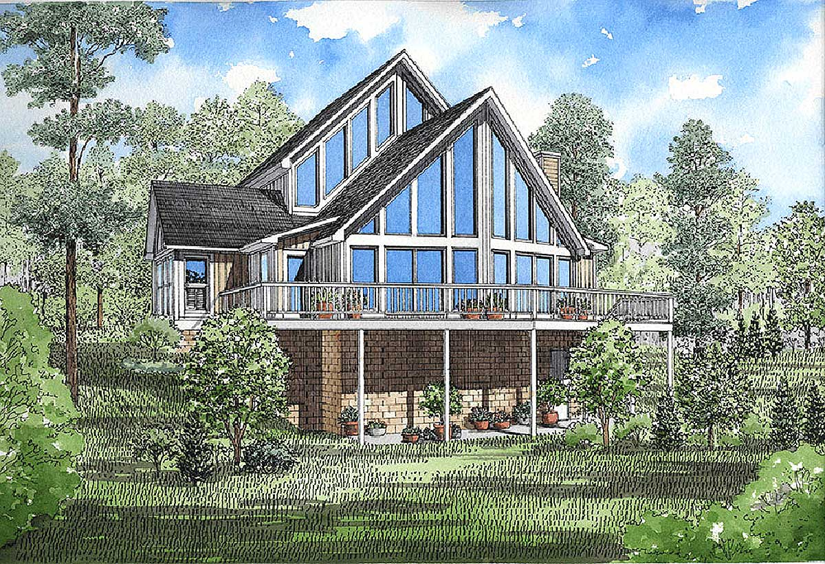 Year-Round Vacation Home Plan - 5931ND
