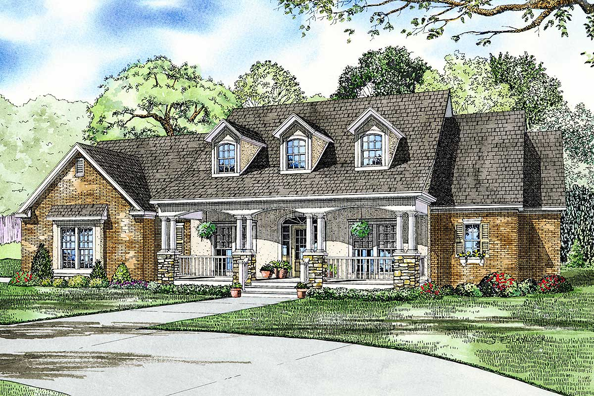 Charming Country Home Plan - 59380nd