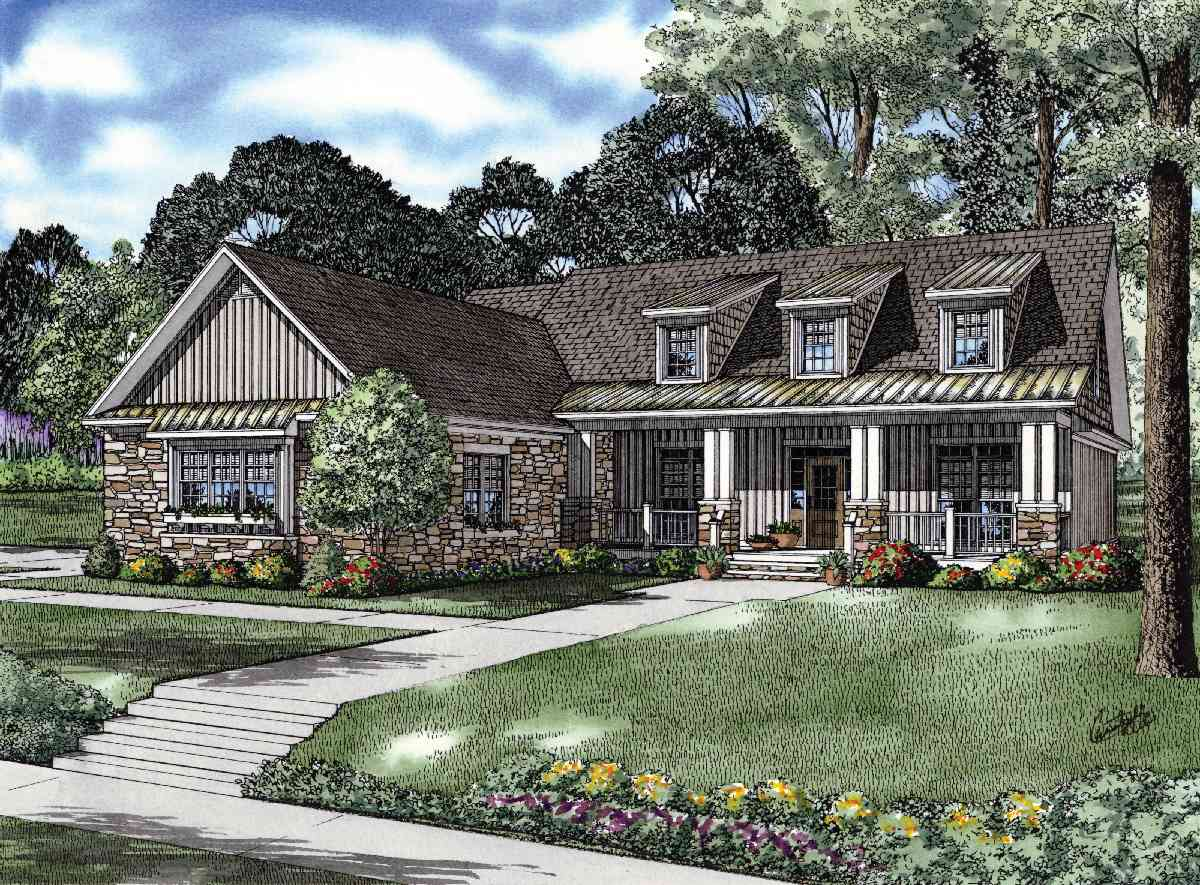 Charming Craftsman House Plan - 59656nd 1st Floor Master