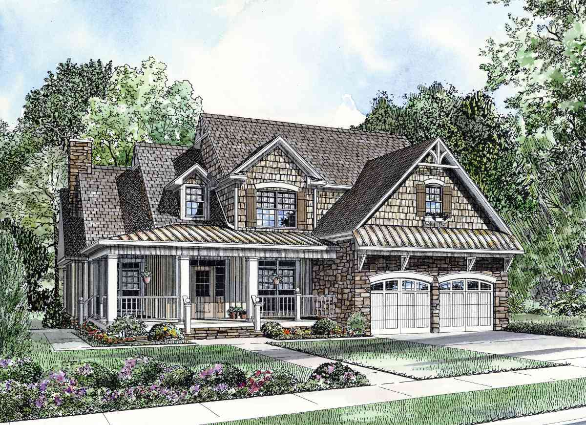 French Country House Plans with Porch