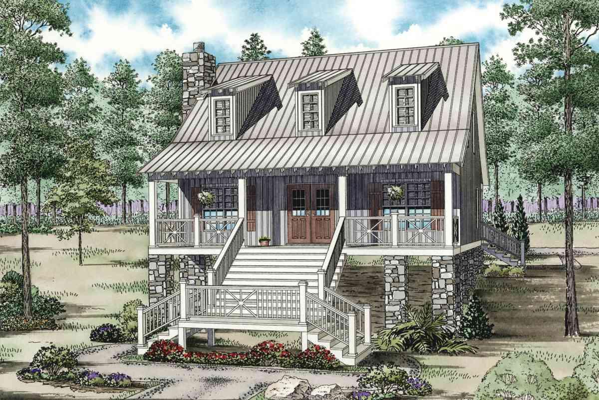 59959nd 1st Floor Master Suite Cad Cottage