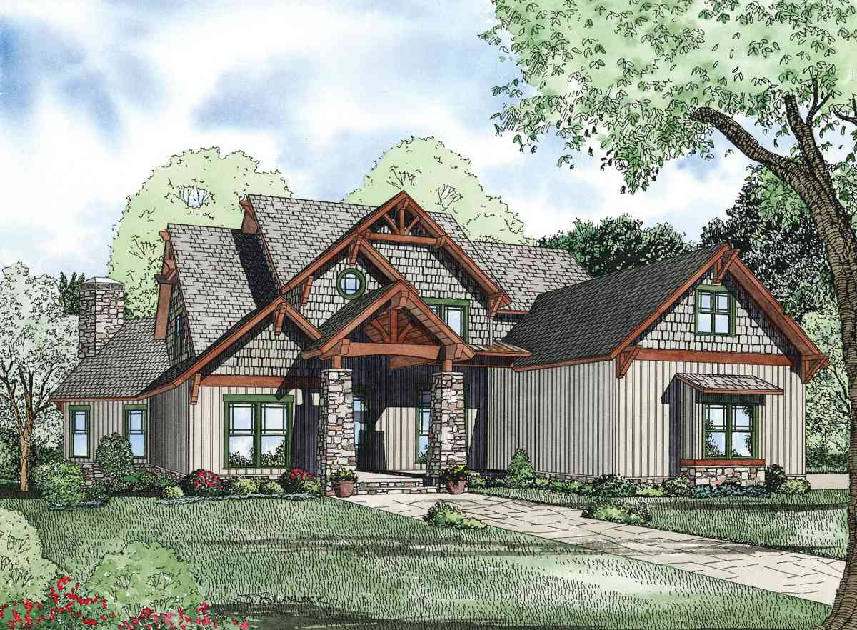 Rustic Retreat - 59985nd Architectural Design House Plans