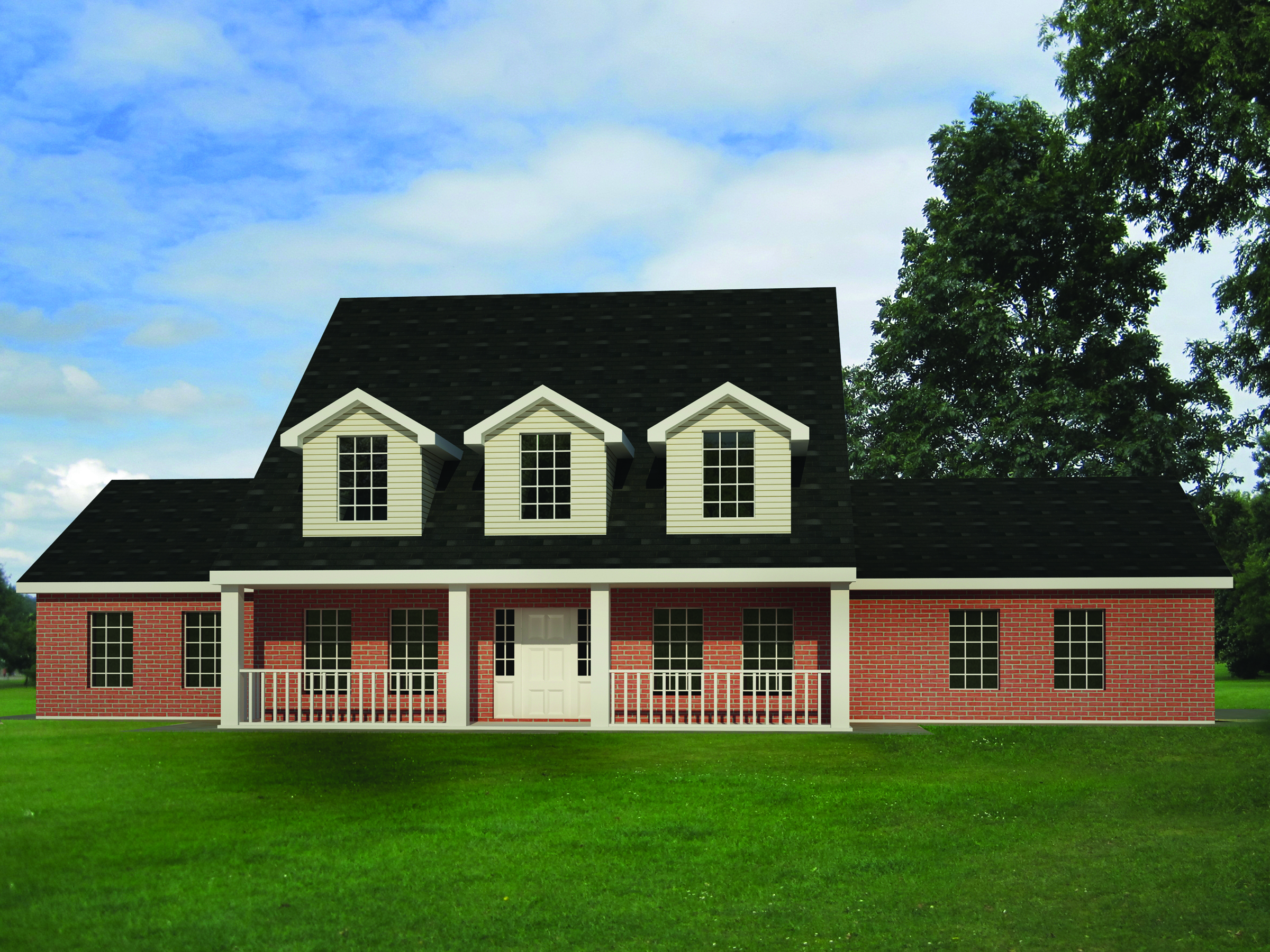 Country Homes with Brick and Siding