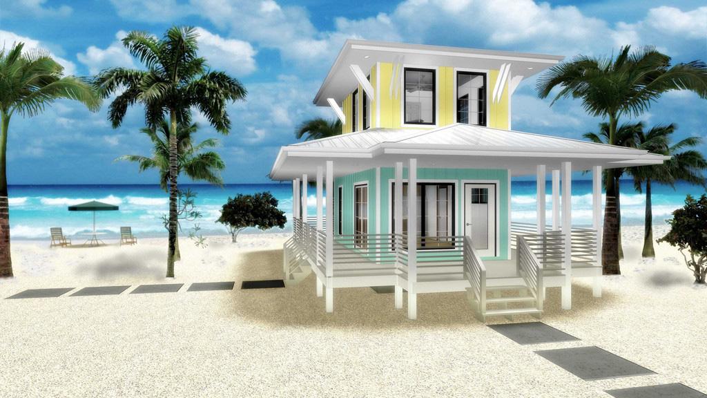 Beach Lover S Dream Tiny House Plan 62575dj