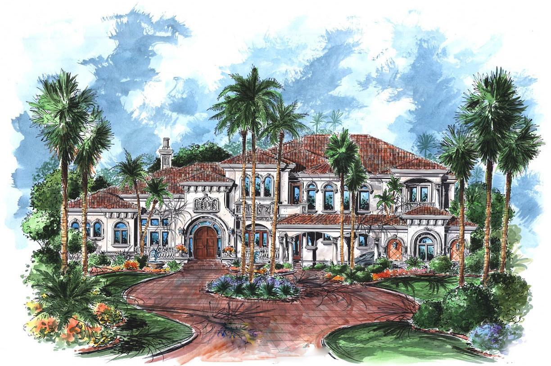 Tuscan Mansion House Plan